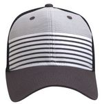 Custom The Salem Stripe Front Mesh Back Cap