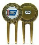 Custom Stock Flat Back Divot Tool (Antique Brass)