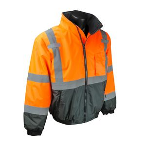 Radians SJ110B Class 3 Two-in-One HiVis Bomber Safety Jacket