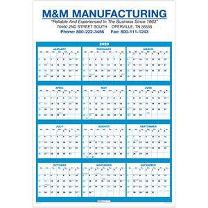 2019 single sheet wall calendar full year view 100 ideastage promotional products