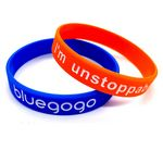 Custom Silicone Wristband W/ Debossed Color Filled