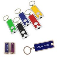Rectangle Plastic Keychain/Ring Flashlight
