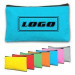Solid Color Multipurpose Canvas Zipper Cosmetic Bag