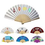 Wood Fabric Folding Fan