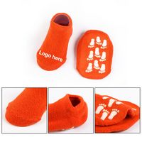 Polyester Loop Pile Slipper Socks With Dot Grip Slip Resistant Finish