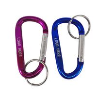 Aluminum Carabiners with Keyring