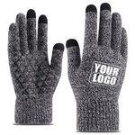 Custom Knit Texting Touch Screen Gripper Tech Gloves