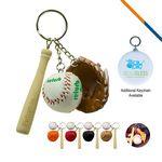 Custom Baseball Glove Keychain-Brown