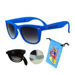 Foldable Sunglasses Blue