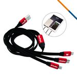 Custom Remington 3in1 Charging Cable-Red