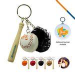 Baseball Glove Keychain-Black