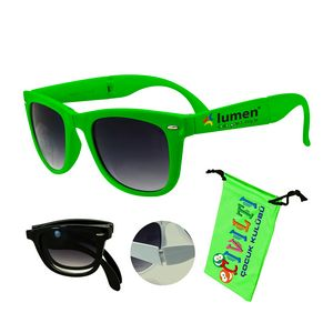 893dd4b29f Foldable Sunglasses Green - AG-SGAO-GRN - IdeaStage Promotional Products