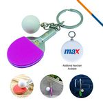 Table Tennis Keychain-Purple