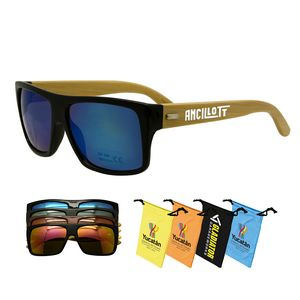 602abb62f6 Bamboo Sunglasses - AG-SGAE - IdeaStage Promotional Products