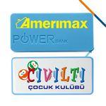Custom Asher Power Bank-3600 MAH Blue