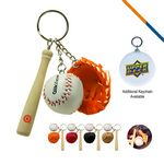 Baseball Glove Keychain-Orange