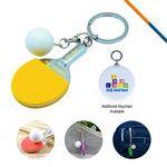 Table Tennis Keychain-Yellow