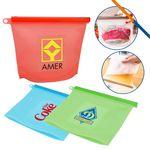 Custom Aqua Silicone Food Bag