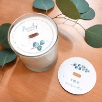 "3"" Seed Paper Candle Dust Covers, 2-Sided"