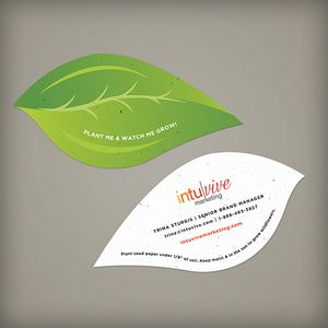 Leaf shape seed paper business card lss4395 ideastage leaf shape seed paper business card lss4395 ideastage promotional products colourmoves