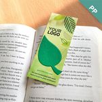 Graphic Leaf Shape Small Eco Bookmark