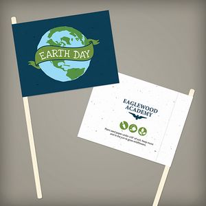 Custom Printed Earth Day Holiday Flags
