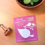Custom Mother's Day Eco Leaf Flat Card