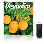 8 ft. Ready Pop Fabric Display - 8'h Medium Curved Single-Sided Graphic Package (No Endcaps)=