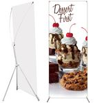 Grasshopper Adjustable Banner Stand -- Small with Scrim Banner