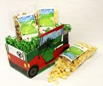 Custom Large Golf Cart Basket with 3 Bags of Gourmet Popcorn