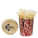 Custom 3-1/2 Gallon Tin - Movie Style Without Labels, Golden Swirls