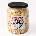 Custom Classic Kettle Corn Popcorn in Clear Plastic Round Gift Jar