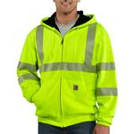 Custom Carhartt Men's High-Visibility Zip Front Thermal-Lined Class 3 Sweatshirt