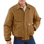 Custom Carhartt Men's Flame-Resistant Duck Bomber Jacket - Quilt Lined