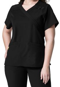 46632ee5b06 WonderWink® Plus Size Mock Wrap Top Shirt - 6205 - IdeaStage Promotional  Products