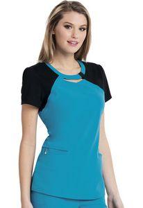 6a3051fcbd8 Careisma® By Sofia Vergara Fearless Audrey Contrast Cutout V-Neck Scrub Top  Shirt - CA606 - IdeaStage Promotional Products