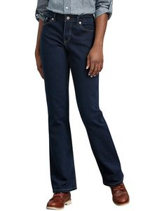 cb3e52df78f Dickies® Relaxed Fit Boot Cut Leg Women s Stretch Denim Jean Pants - FD138  - IdeaStage Promotional Products