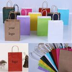 Custom Color Kraft Paper Shopping Bag