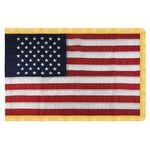 4' x 6' U.S. Indoor Nylon Flag with Pole Hem and Fringe