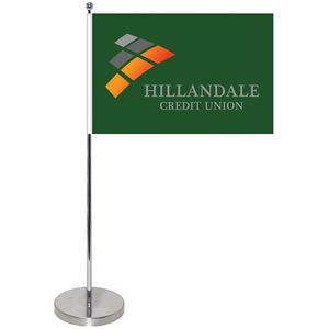 10.6-19.3 Metal Telescopic Flagpole with One Double Sided Flag