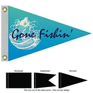 Single Reverse Nylon Boat Flag (12x18)