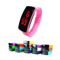 Colorful PU Strap With LCD Screen Bracelet Watches
