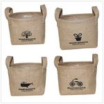 Custom Jute Table Organizer Baskets for Cosmetics and Flowers