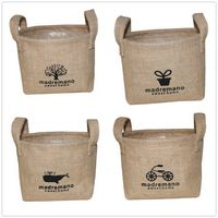 Jute Table Organizer Baskets for Cosmetics and Flowers