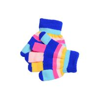 Rainbow Acrylic Knitted Gloves For Kids-Mixed Color
