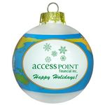 Custom Shrink Band Ornament-World Globe 80mm