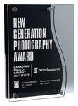 Custom Acrylic Carrel Black Floating Award, 5.25