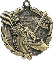 1.75 Sculptured Golf Medal