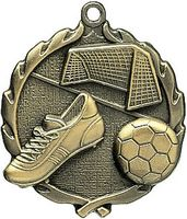 2.5 Sculptured Soccer Medal