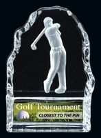 Male Golf Glass Iceberg Award (4.25 H)